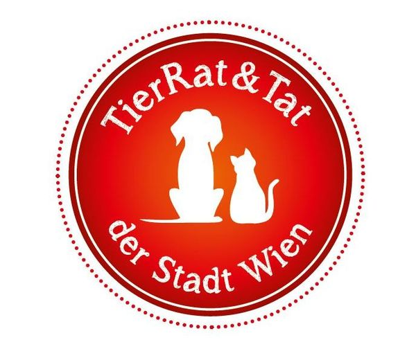Vignette mit Aufschrift TierRat & Tat der Stadt Wien
