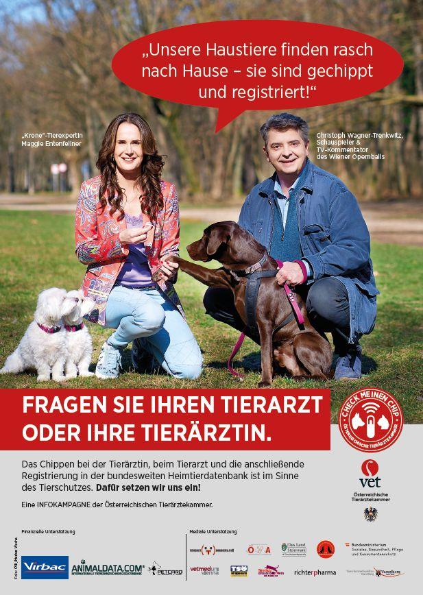 Maggie Entenfellner und Christoph Wagner-Trenkwitz mit ihren Hunden