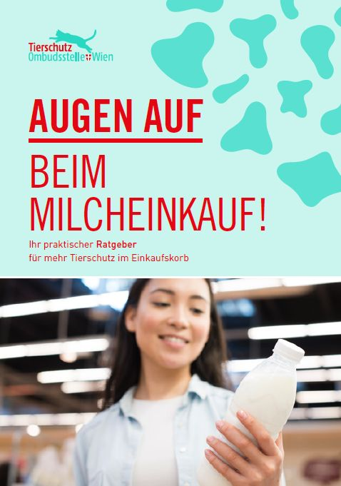 Titelblatt der Broschüre Augen auf beim Milcheinkauf